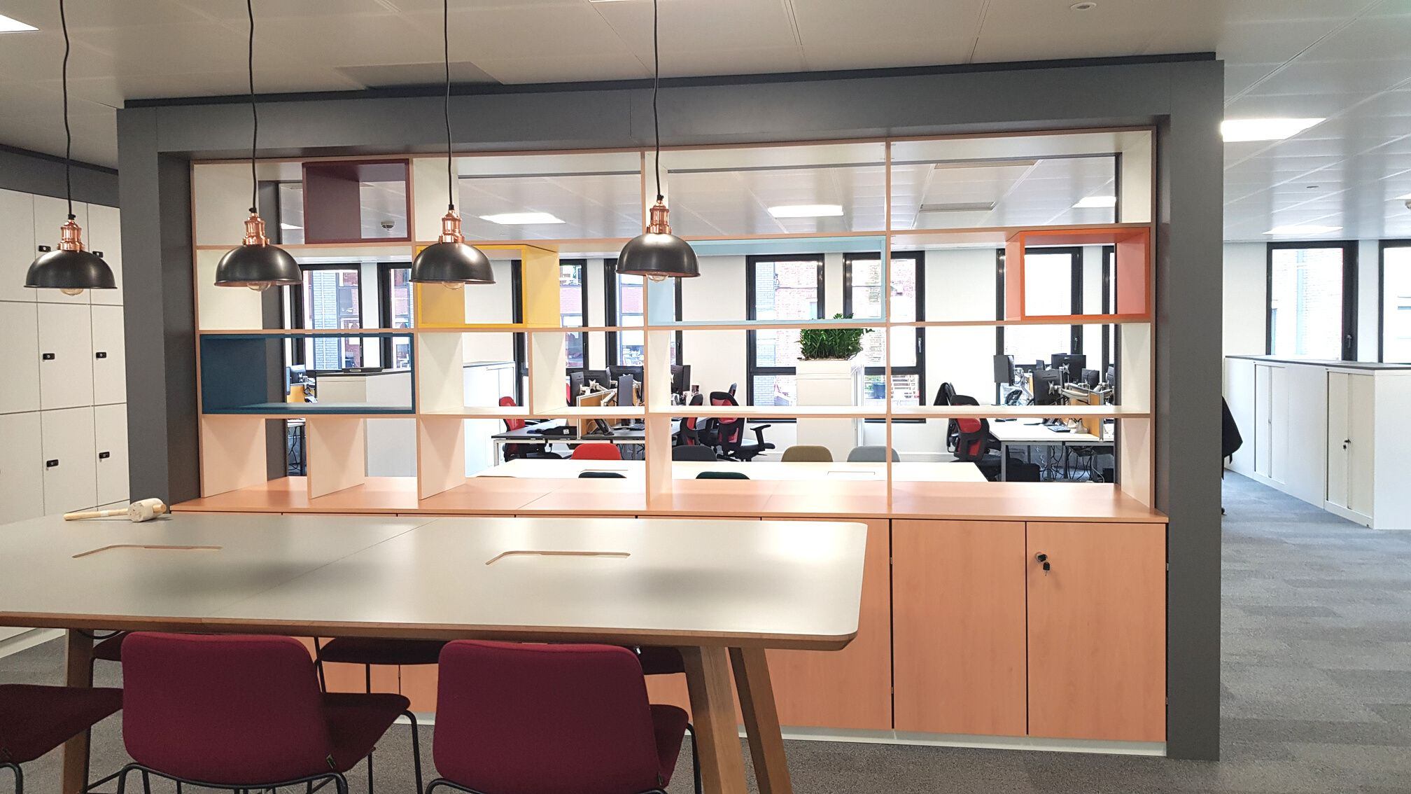 Office fit out zones