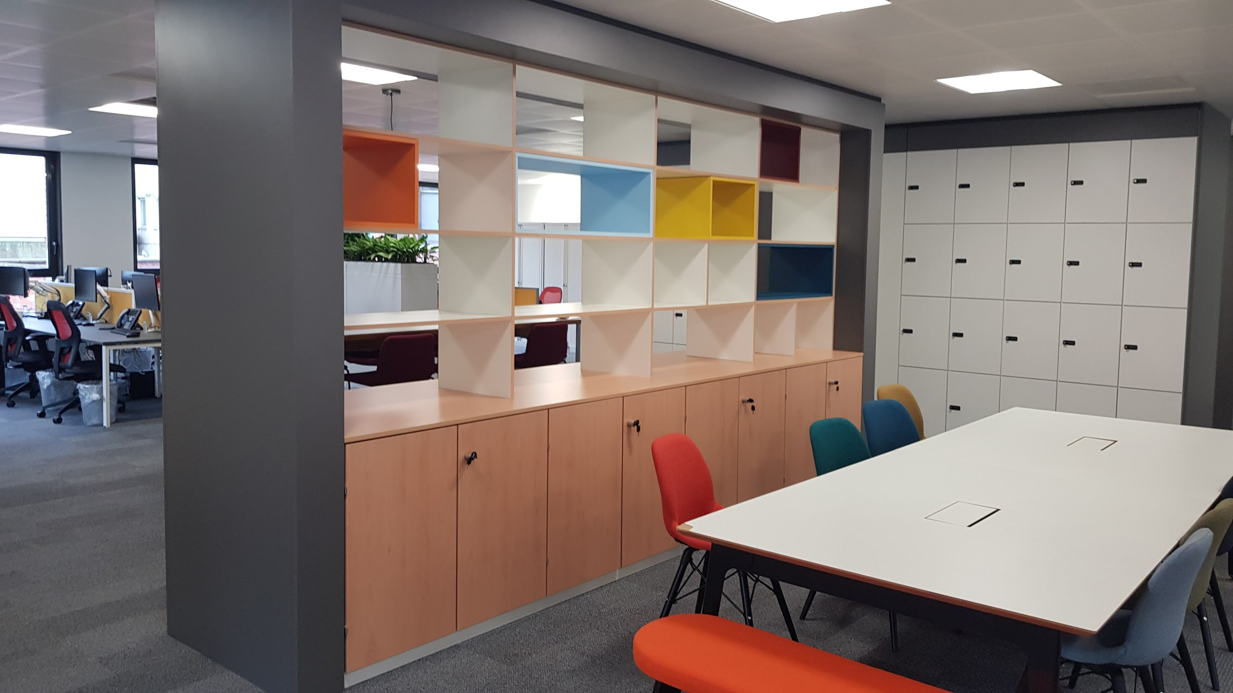 Office partitioning and storage